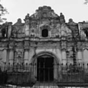 Iglesia San Jose El Viejo - Antigua Guatemala Bnw Art Print
