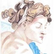 Ignudo Sistine Chappel Michelangelo Art Print