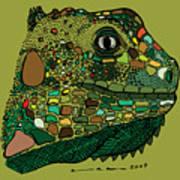 Iguana - Color Art Print