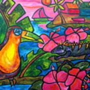 Iguana Eco Tour Art Print by Patti Schermerhorn