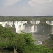 Iguassu Falls From Brazil Art Print