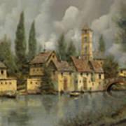 Il Borgo Sul Fiume Art Print