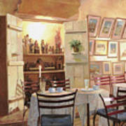 Il Caffe Dell'armadio Art Print by Guido Borelli
