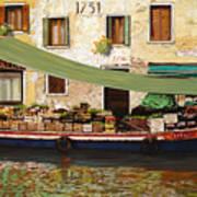 il mercato galleggiante a Venezia Art Print