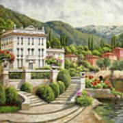 Il Palazzo Sul Lago Art Print