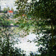Ile De La Grande Jatte Through The Trees Art Print
