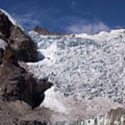 Illampu Glacier Art Print