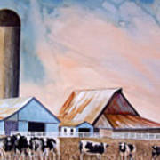 Illinois Farm Art Print