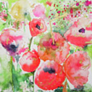 Illusions Of Poppies Art Print