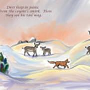 Illustrated Haiku 3 - Age 17 Art Print