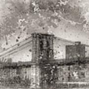 Im Selling The Brooklyn Bridge Or At Least A Photo Of It  Art Print