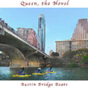 Image Included In Queen The Novel - Austin Bridge Boats Enhanced Poster Art Print