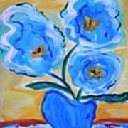 Imagine In Blue Art Print