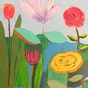 Imagined Flowers One Art Print
