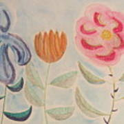 Imagined Flowers Two Art Print
