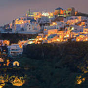 Imerovigli After Sunset, Santorini Art Print