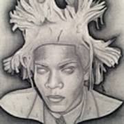 Immortalizing In Stone Jean Michel Basquiat Drawing Art Print