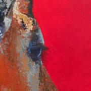 Impala On Crimson Close-up Art Print