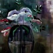 Impatient Painterly Floral Art Print