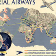 Imperial airways vintage travel advertising poster world map imperial airways vintage travel advertising poster world map poster gumiabroncs Image collections