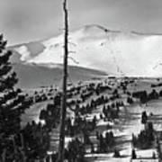 Imperial Bowl And Peak 8 At Breckenridge Resort Colorado Art Print by Brendan Reals
