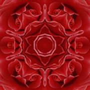 Imperial Red Rose Mandala Art Print