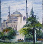 Imperial Sultanahmet Mosque Istanbul Turkey 2006  Art Print