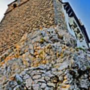 Impregnable Wall. Bran Castle - Dracula's Castle. Art Print