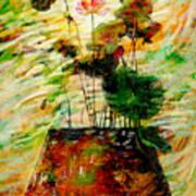 Impression In Lotus Tree Art Print