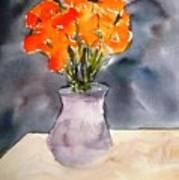 Impression Of Flowers Art Print