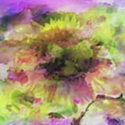 Impression Sunflower Art Print