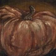 Impressionist Autumn Pumpkin Art Print