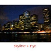 Impressionist Skyline New York City Art Print