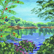 Impressionistic Landscape Xx Art Print
