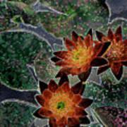 Impressionistic Lilies Art Print