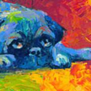 impressionistic Pug painting Art Print by Svetlana Novikova