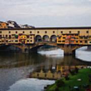 Impressions Of Florence - Ponte Vecchio Autumn Art Print