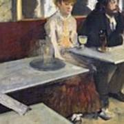 In A Cafe Print by Edgar Degas