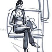 In A Train Art Print