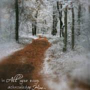 In All Your Ways Print by Debra Straub