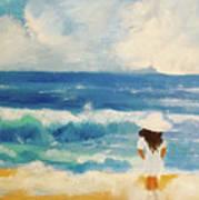 In Awe Of The Ocean Art Print