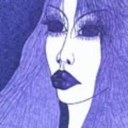 In Blue Colour Art Print