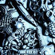 In Blue Nautilus  Art Print