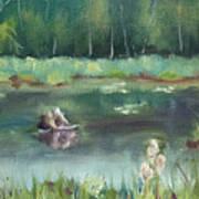 In Company of Bullfrogs Art Print