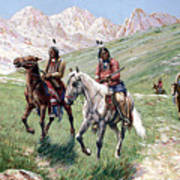 In The Cheyenne Country Art Print