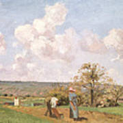 In The Fields Art Print by Camille Pissarro