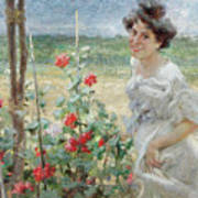 In The Flower Garden, 1899 Art Print