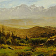 In The Foothills Of The Rockies Art Print by Albert Bierstadt