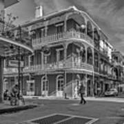 In The French Quarter - 3 Bw Art Print