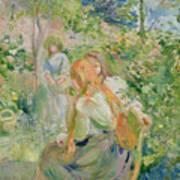 In The Garden At Roche Plate Art Print by Berthe Morisot
